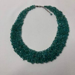 Beautiful Green Stone Beaded Necklace